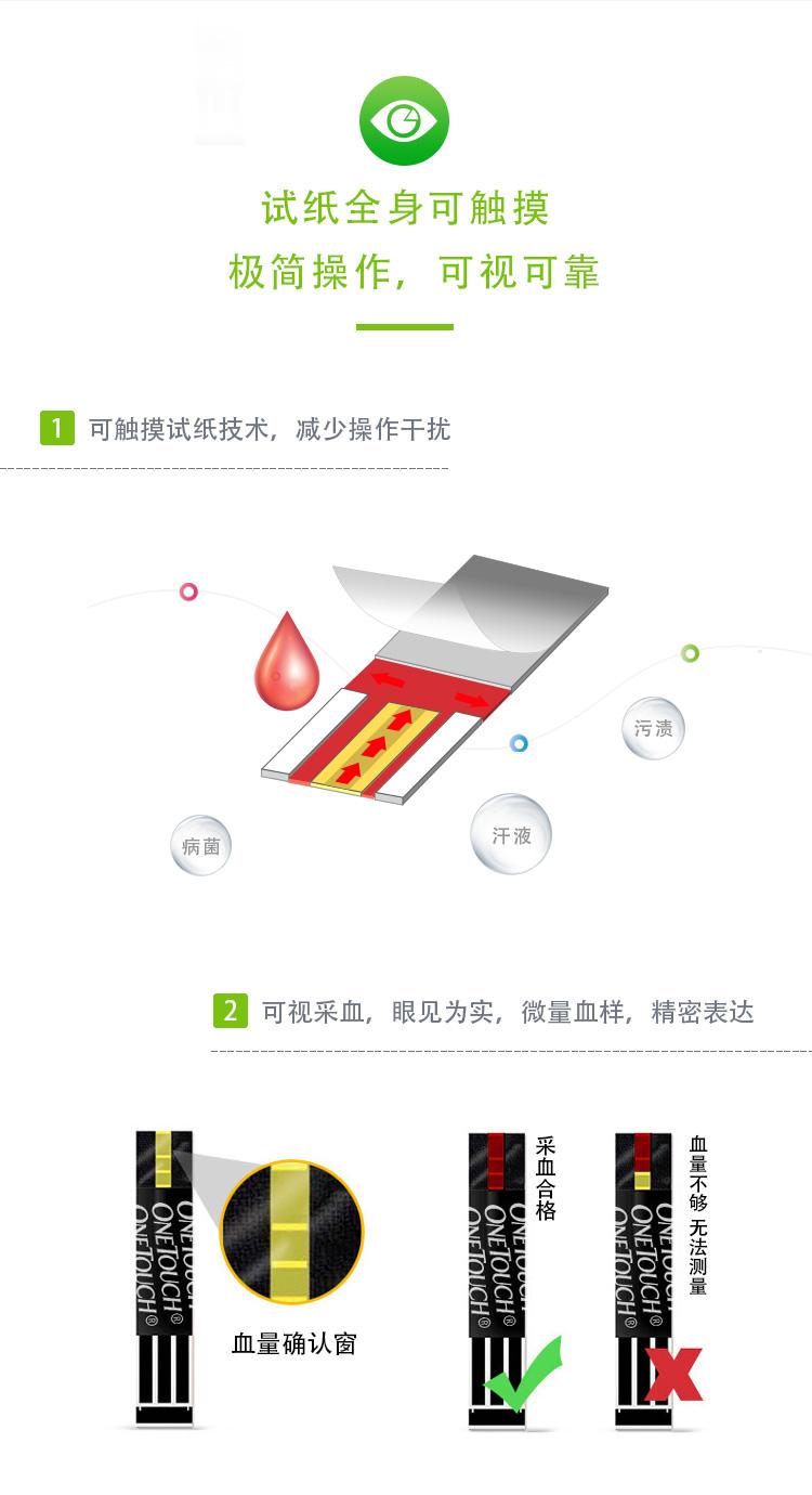 稳豪型血糖试纸 50片  家用进口送采血针